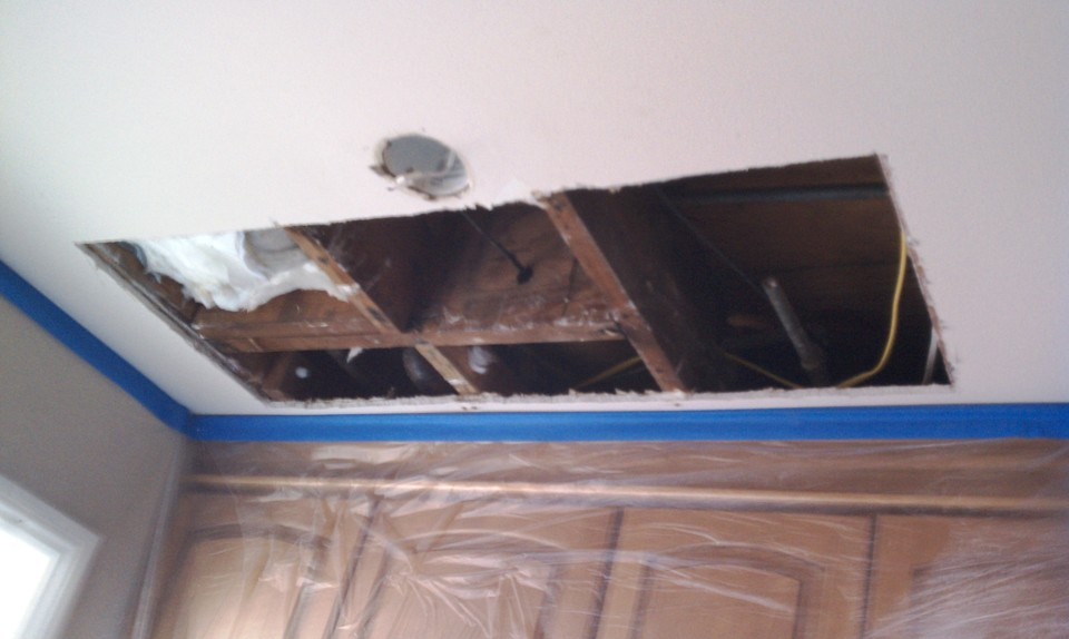 Reliable OC Handyman Kitchen Ceiling Drywall Repair Reliable OC